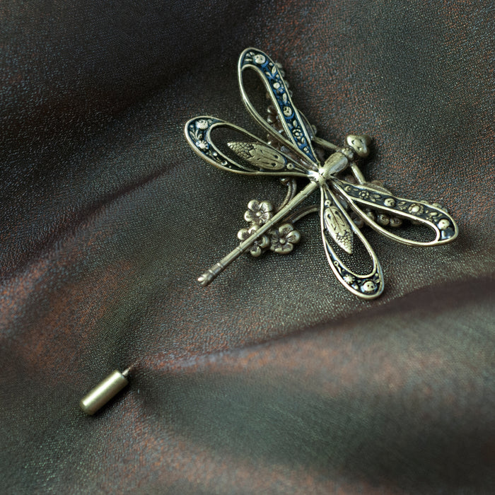 Dragonfly Hat Pin P675 - sweetromanceonlinejewelry