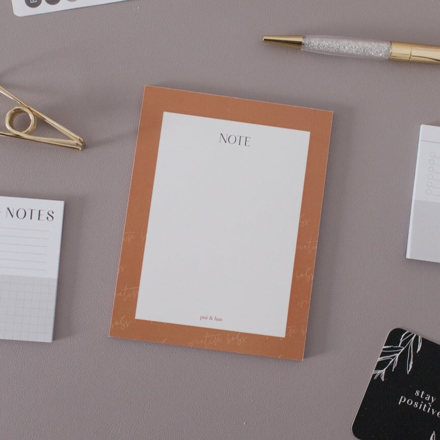 Note Notepad | Collaboration with The Creative Boss Collective