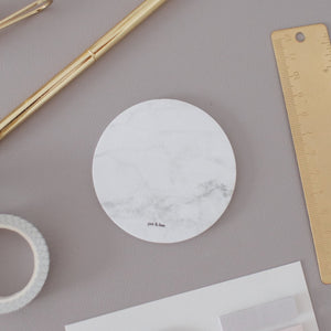 Circle Sticky Notes - Marble