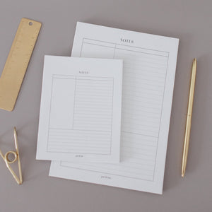 Cornell Notes Notepad