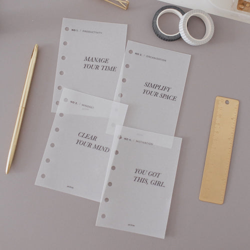 Vellum Dashboard Set - 4 Steps To Success