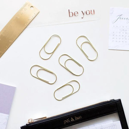 Light Gold Round Paper Clips