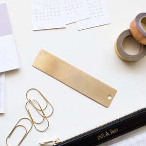 Gold Metal Ruler