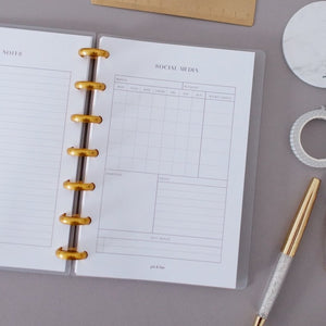 Social Media Planner Inserts // Mini Happy Planner