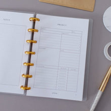 Load image into Gallery viewer, Project Planner Planner Inserts // Mini Happy Planner