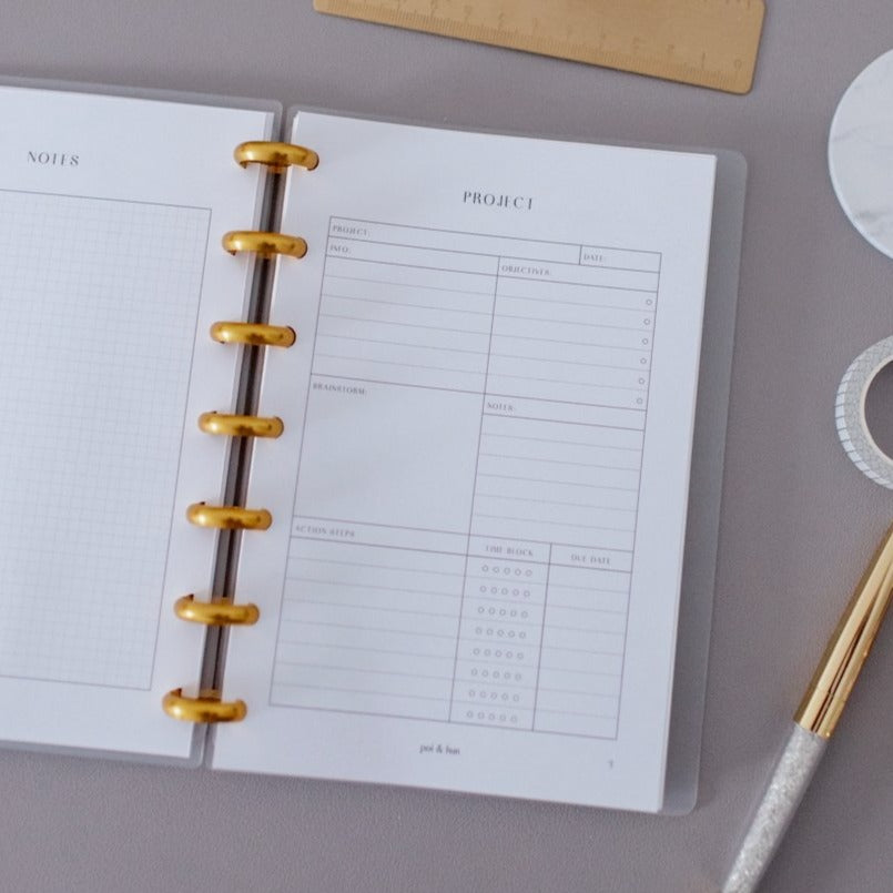 Project Planner Planner Inserts // Mini Happy Planner