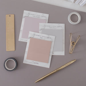 "Transparent Sticky Notes - 3"" x 3"""