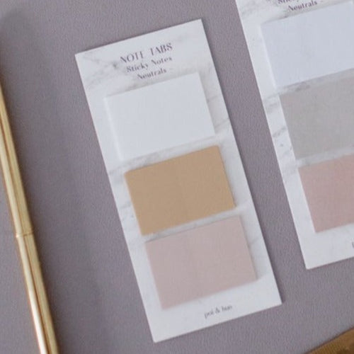 Note Tabs Set - Neutrals