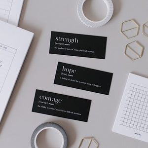 Growth Words Note Card Set