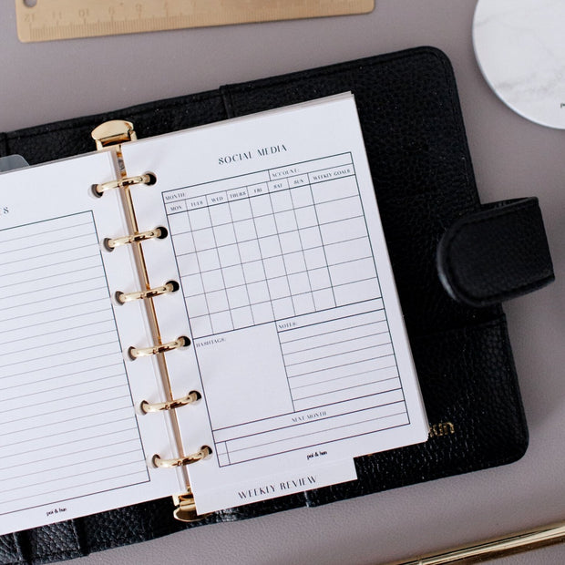 Social Media Planner Inserts // Ring Planners // Original Collection 1