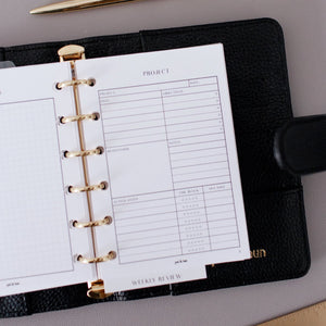 Project Planner Inserts // Ring Planners // Original Collection
