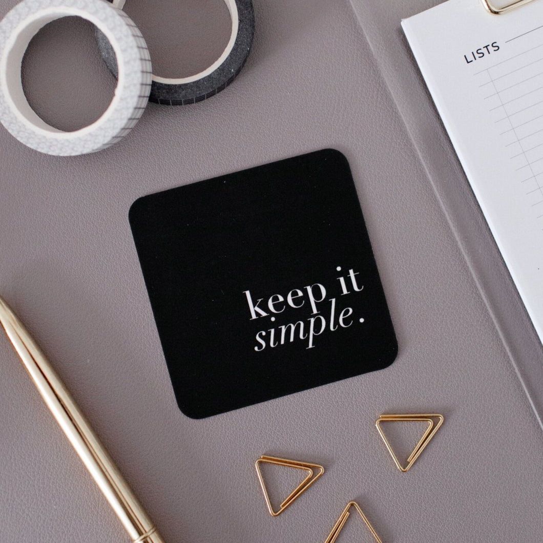 Keep It Simple Note Card