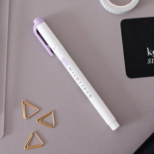 Zebra Mildliner Double-Sided Highlighter in Mild Violet