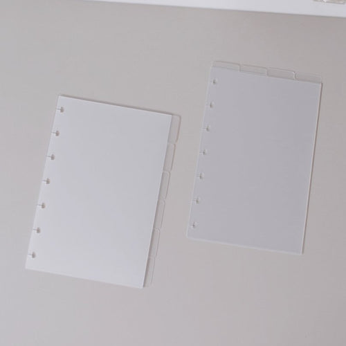 Blank Frosted Tab Dividers // Mini Happy Planner