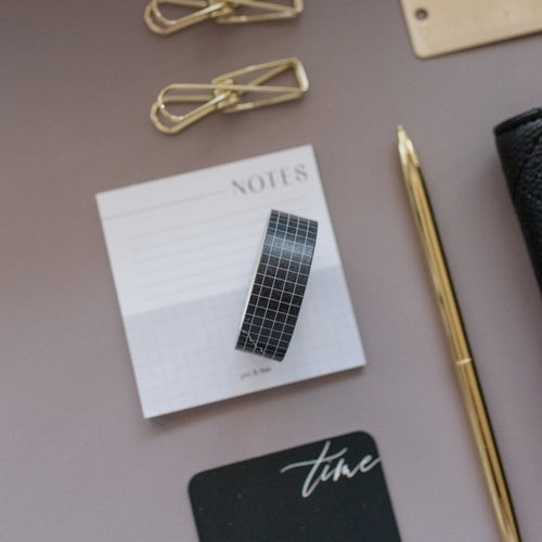 Black Grid Washi Tape