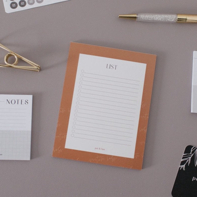 Lists Notepad | Collaboration with The Creative Boss Collective
