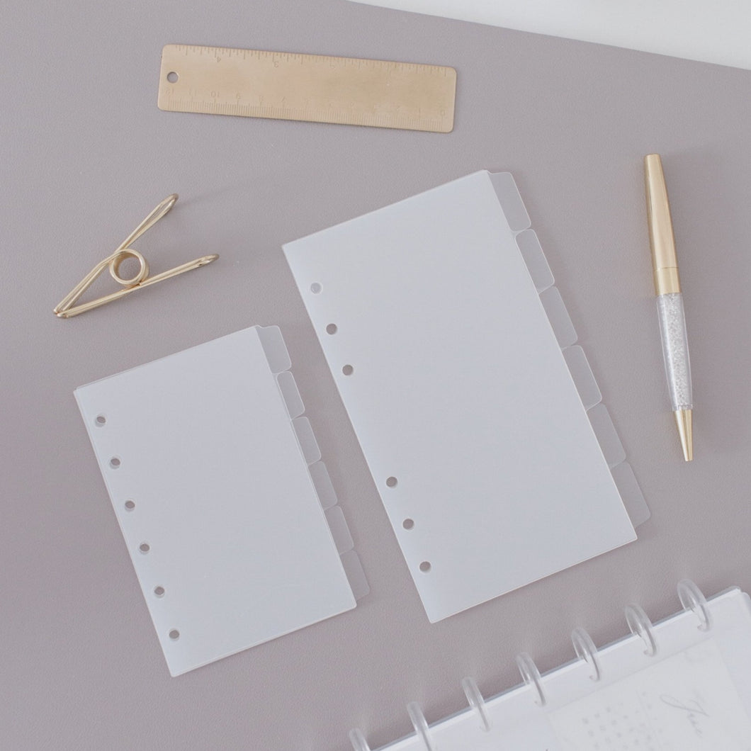 Blank Frosted Tab Dividers