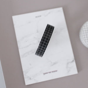 Slim Washi Tape - Black Grid