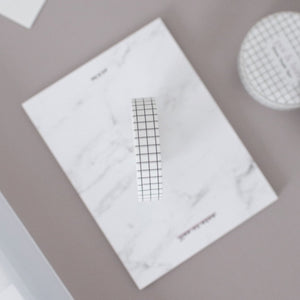 Slim Washi Tape - White Grid