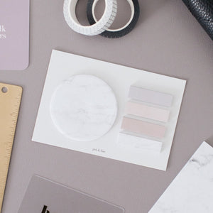 Circle + Page Tabs Sticky Note Set