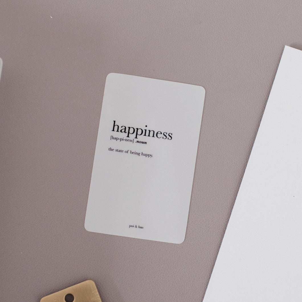 OOPS // Happiness Clear Card