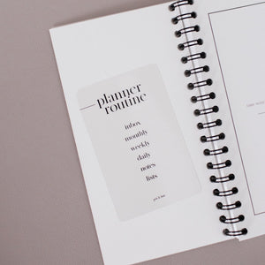 Planner Routine Clear Card