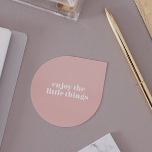 Enjoy The Little Things Raindrop Note Card