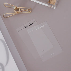 To Do Clear Card