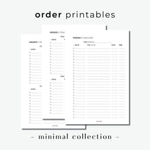 Load image into Gallery viewer, PRINTABLE // Order Tracker Planner Insert // Minimal