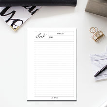 Load image into Gallery viewer, PRINTABLE // Lists Planner Insert