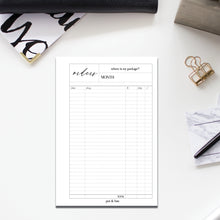 Load image into Gallery viewer, PRINTABLE // Order Tracker Planner Insert