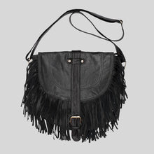 Load image into Gallery viewer, Paula Bag Reworked Leather Black