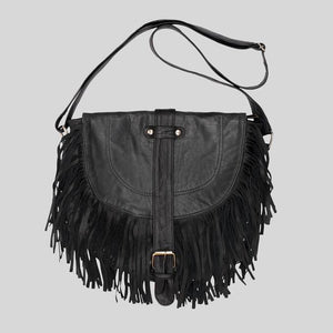 Paula Bag Reworked Leather Black
