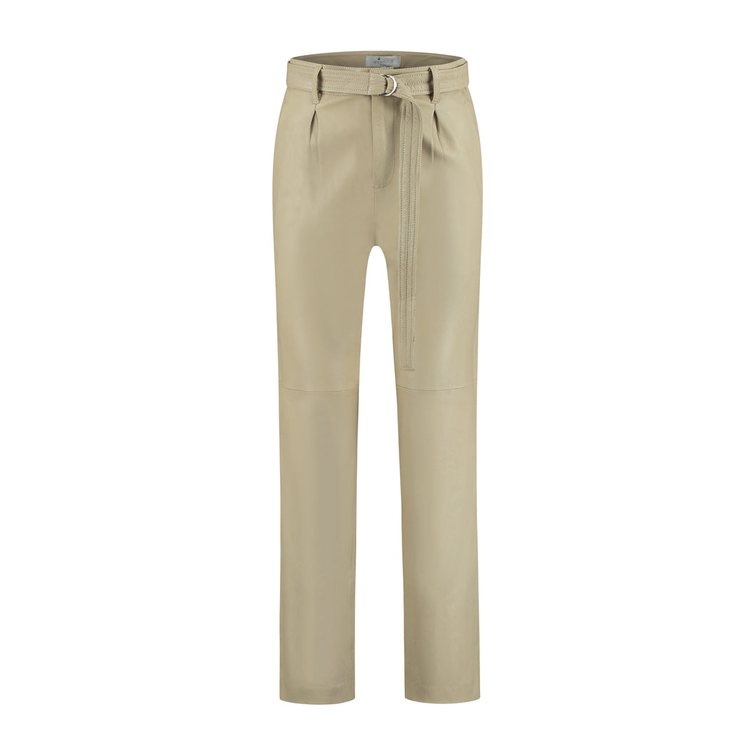 Leather Pant Almond