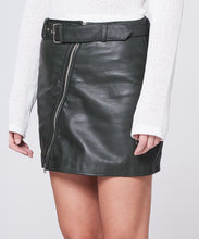 Load image into Gallery viewer, Eileen Leather Skirt Military Green