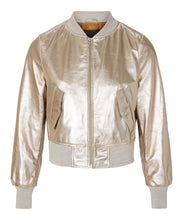 Load image into Gallery viewer, Ellora Bomber Champagne Metallic