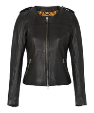Load image into Gallery viewer, Farley Leather Jacket Black