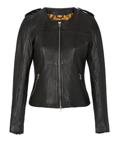 Farley Leather Jacket Black