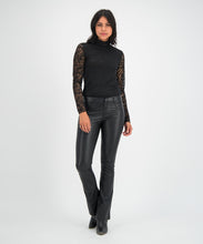 Load image into Gallery viewer, Hartville Leather Flared Pants Black