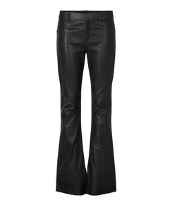 Hartville Leather Flared Pants Black