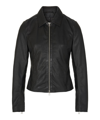Madeley Leather Jacket Black