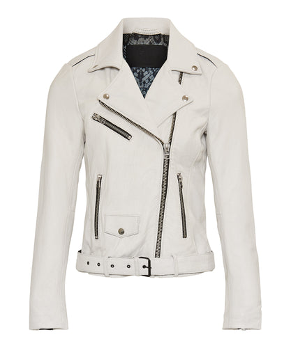 GC Pearl Biker off white with black