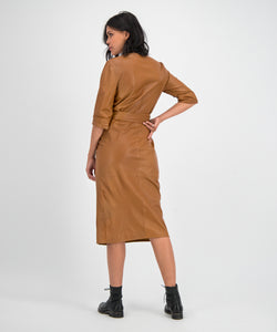 GC Zoë dress cognac