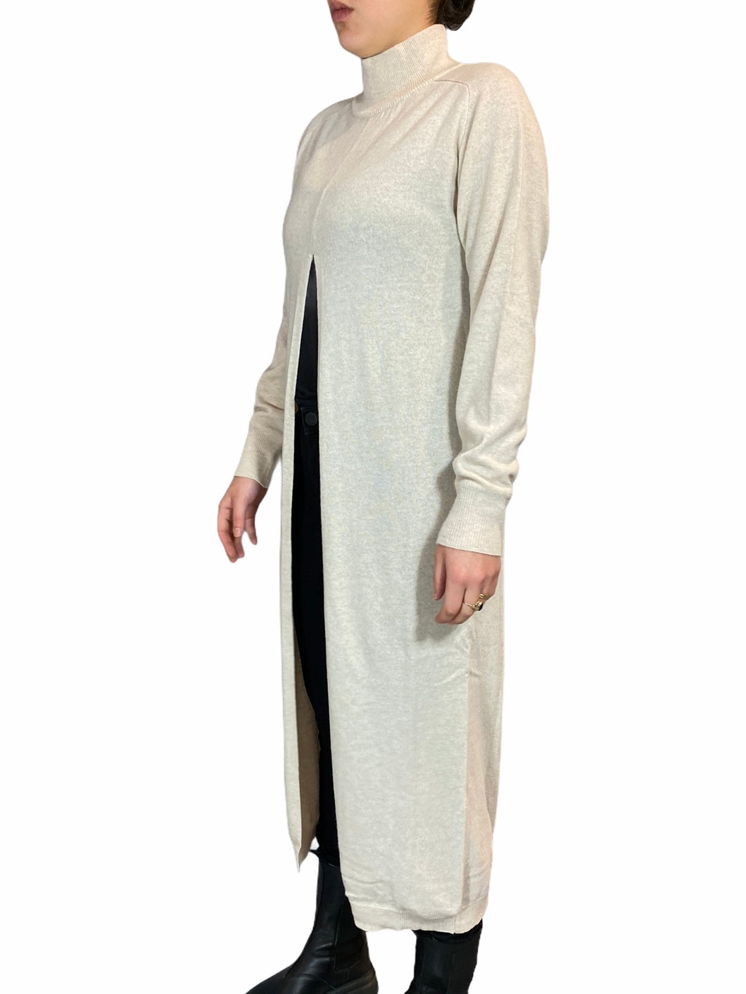 Cream knit sweater/dress Cashmere blend