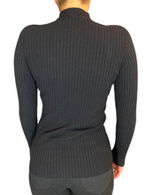 Load image into Gallery viewer, Black half turtle neck