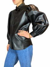Load image into Gallery viewer, Vegan Leather Blouse