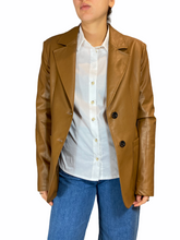 Load image into Gallery viewer, Camel Leather Look Blazer