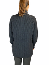Load image into Gallery viewer, Black Oversized Turtle Neck