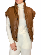 Load image into Gallery viewer, Vegan Leather Camel Body Warmer