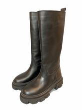 Load image into Gallery viewer, Black Leather boot with rubber sole